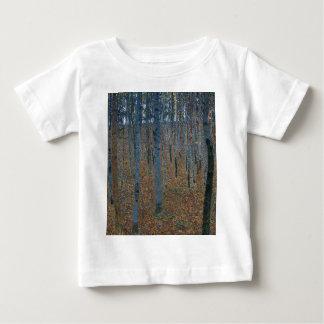 Camiseta Para Bebê Gustavo Klimt - bosque da faia. Animais selvagens