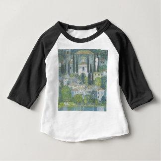 Camiseta Para Bebê Gustavo Klimt - igreja no trabalho de arte de