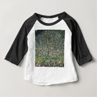 Camiseta Para Bebê Gustavo Klimt - pintura da árvore de Apple
