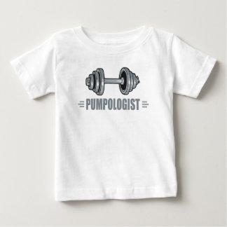 Camiseta Para Bebê Halterofilismo de bombeamento do ferro de