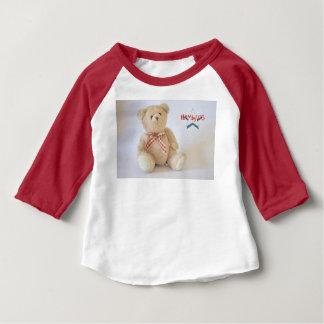 Camiseta Para Bebê HAMbyWG 3/4 de t-shirt da luva - urso de ursinho