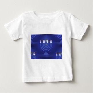 Camiseta Para Bebê hanukkah feliz azul