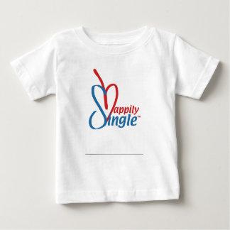 Camiseta Para Bebê HappilySingle™