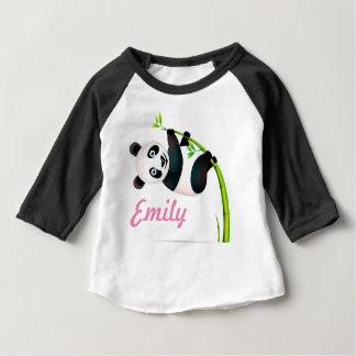 Camiseta Para Bebê Haste de bambu de suspensão preto e branco do ramo