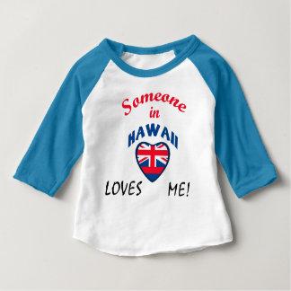 Camiseta Para Bebê Havaí ama-me bandeira do coração