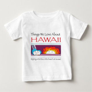 Camiseta Para Bebê Havaí por Harrop-T-c