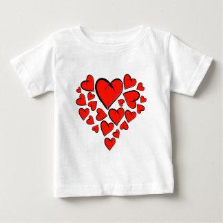 Camiseta Para Bebê Heartinella - corações do vôo