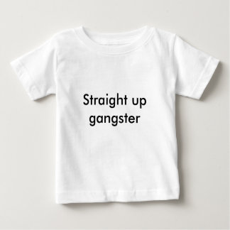 Camiseta Para Bebê Hetero acima do gângster