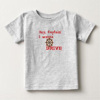 Camiseta Para Bebê Hey capitão