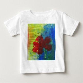 Camiseta Para Bebê hibiscus