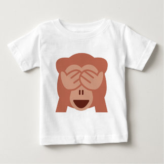 Camiseta Para Bebê Hide and seek Emoji Monkey