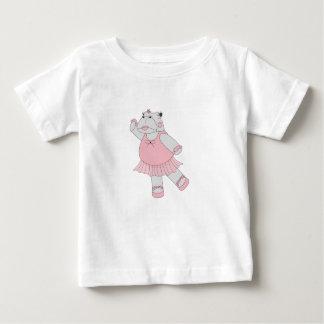 Camiseta Para Bebê hipopótamo da bailarina do illusima