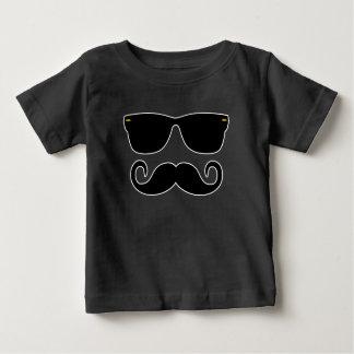 Camiseta Para Bebê Hipster - vidros e 'Stache