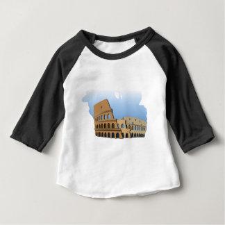 Camiseta Para Bebê História antiga Italia do coliseu de Coliseo Roma