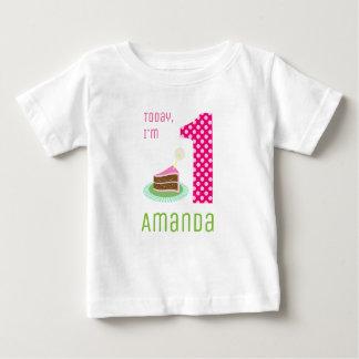 Camiseta Para Bebê Hoje eu sou 1 bolo de aniversário