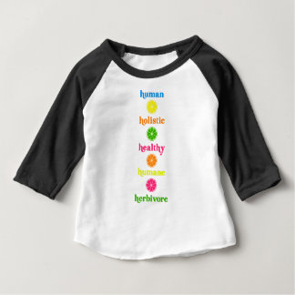 Camiseta Para Bebê Holístico-Humano-Herbívoro