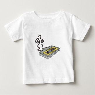 Camiseta Para Bebê Homem compacto da cassete de banda magnética que