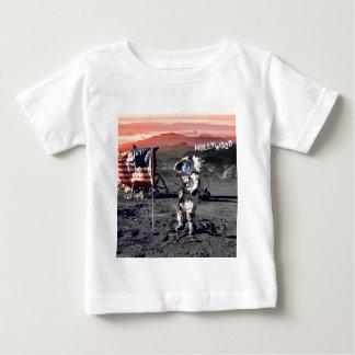 Camiseta Para Bebê Homem da lua de Hollywood