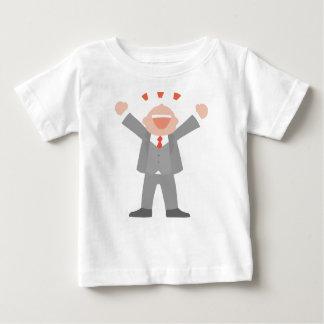 Camiseta Para Bebê Homem de negócio ectático