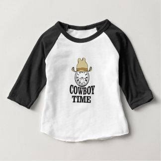 Camiseta Para Bebê homem do chapéu do tempo do vaqueiro