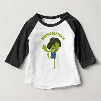 Camiseta Para Bebê Homem dos brócolos
