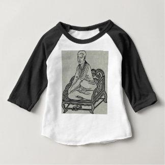 Camiseta Para Bebê Homem que senta-se na pose da meditação