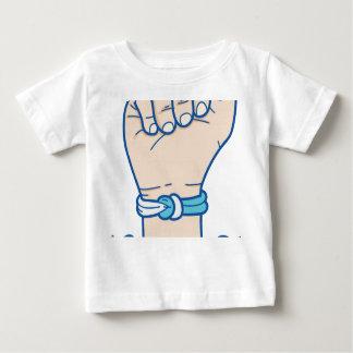 Camiseta Para Bebê homens bracelet-01 do cancer
