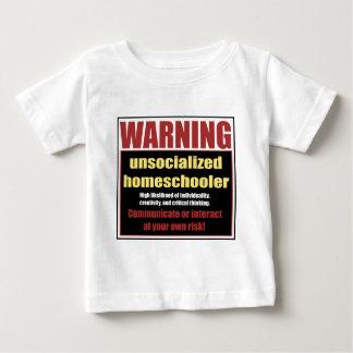 Camiseta Para Bebê homeschooler unsocialized