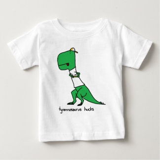 Camiseta Para Bebê hucks do tiranossauro