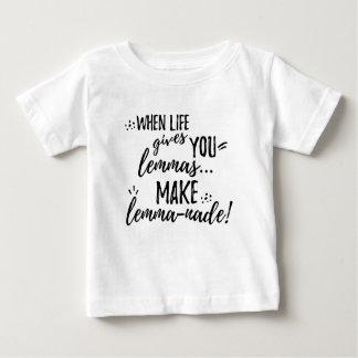 Camiseta Para Bebê Humor da linguística da matemática do Lemma