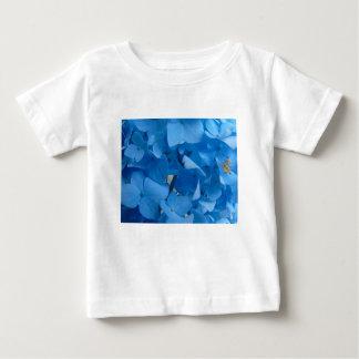 Camiseta Para Bebê Hydrangeas azuis