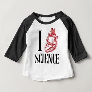 Camiseta Para Bebê I heart science