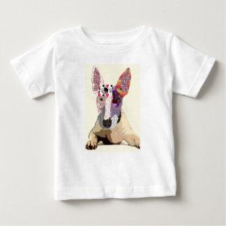 Camiseta Para Bebê I love bullterrier