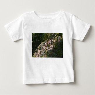 Camiseta Para Bebê Íbex alpino na montanha