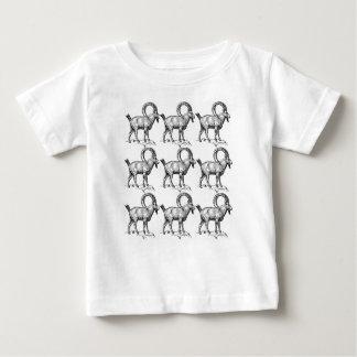 Camiseta Para Bebê íbex do chifre da onda