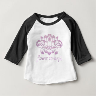 Camiseta Para Bebê Ícone abstrato floral do conceito da flor