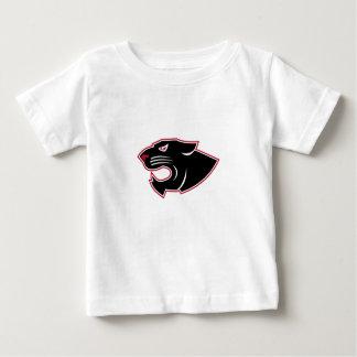 Camiseta Para Bebê Ícone agressivo da cabeça da pantera