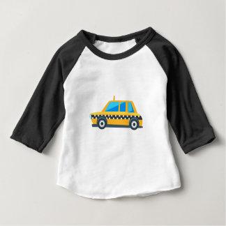 Camiseta Para Bebê Ícone bonito do carro do brinquedo amarelo do