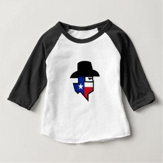 Camiseta Para Bebê Ícone da bandeira de Texas do bandido