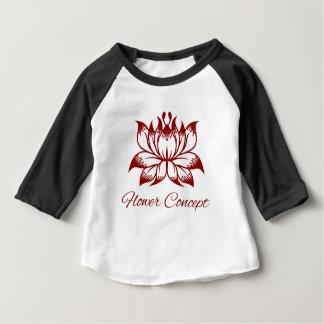 Camiseta Para Bebê Ícone do conceito de design floral da flor