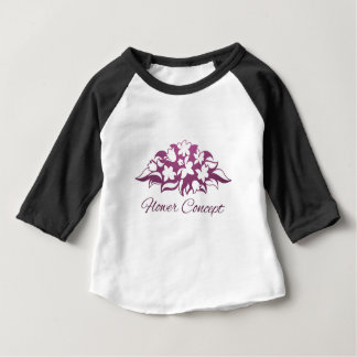 Camiseta Para Bebê Ícone do design floral do florista da flor