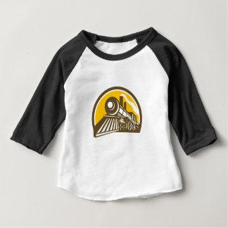 Camiseta Para Bebê Ícone do trem da locomotiva de vapor