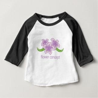 Camiseta Para Bebê Ícone floral do florista da flor