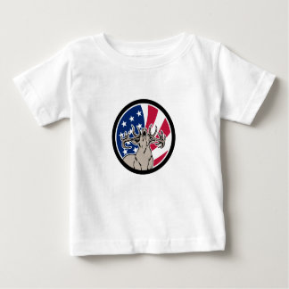 Camiseta Para Bebê Ícone norte-americano da bandeira dos EUA dos