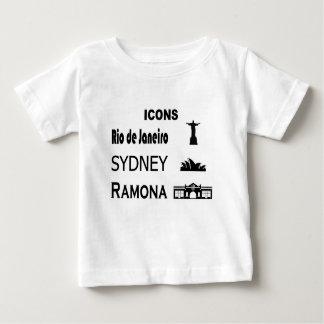 Camiseta Para Bebê Ícone-Rio-Sidney