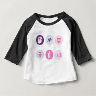 Camiseta Para Bebê Ícones desenhados mão do bebê: Loja criativa do