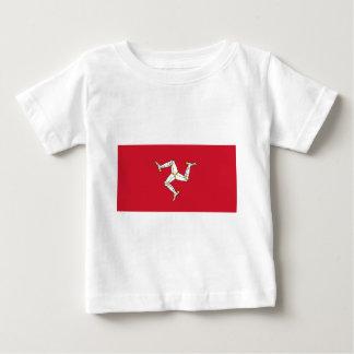 Camiseta Para Bebê Ilha da bandeira do homem - bandeira Manx -