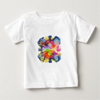 Camiseta Para Bebê ilha da mancha da cor