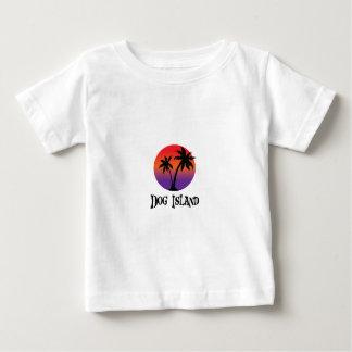Camiseta Para Bebê ilha do cão