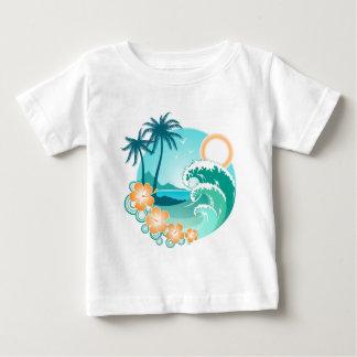 Camiseta Para Bebê Ilha havaiana 1